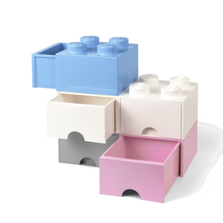 Picture of Lego® Storage Box with Drawers 4 Light Royal Blue