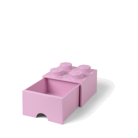 Picture of Lego® Storage Box with Drawers 4 Light Purple