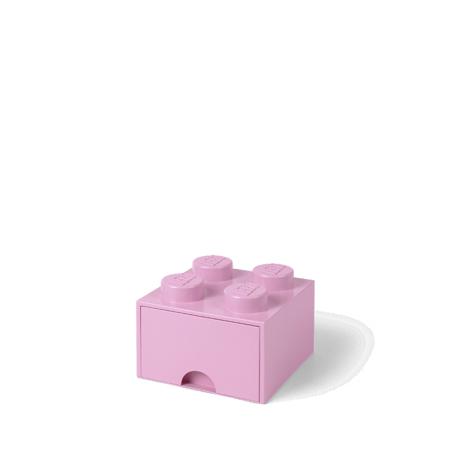 Lego® Storage Box with Drawers 4 Light Purple