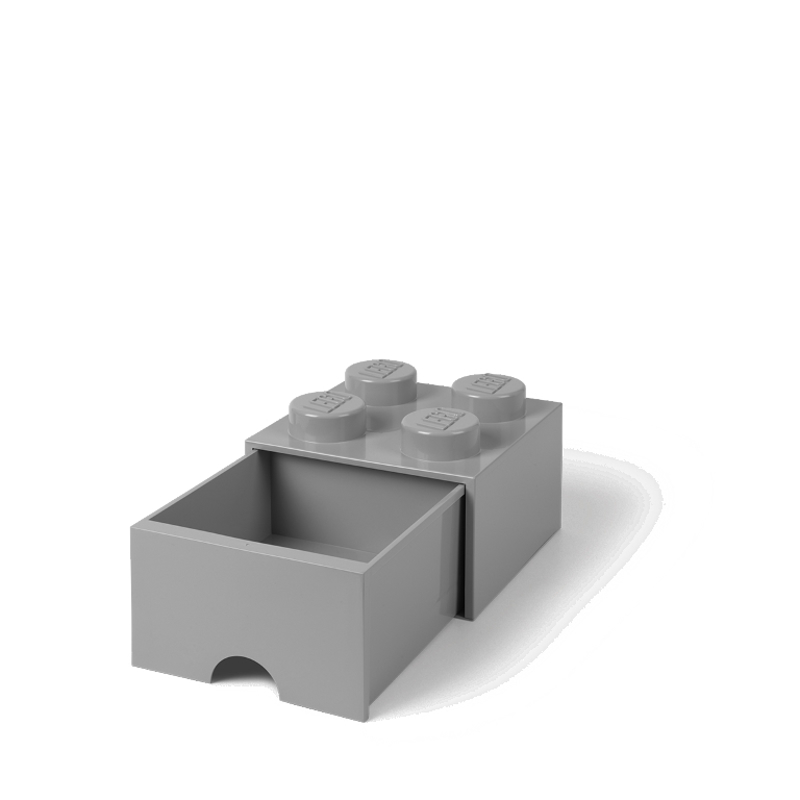 Picture of Lego® Storage Box with Drawers 4 Medium Stone Grey