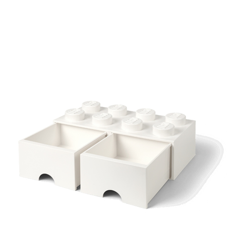 Picture of Lego® Storage Box with Drawers 8 White