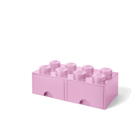 Picture of Lego® Storage Box with Drawers 8 Light Purple