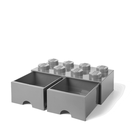 Picture of Lego® Storage Box with Drawers 8 Medium Stone Grey