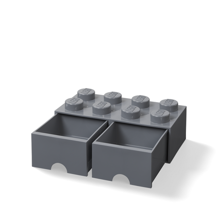 Picture of Lego® Storage Box with Drawers 8 Dark Grey