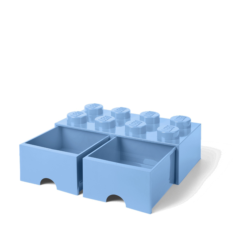 Picture of Lego® Storage Box with Drawers 8 Light Royal Blue