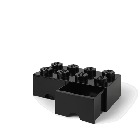 Lego® Storage Box with Drawers 8 Black