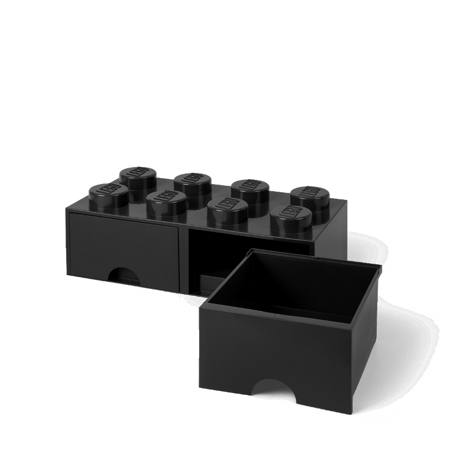 Picture of Lego® Storage Box with Drawers 8 Black