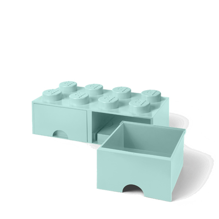 Picture of Lego® Storage Box with Drawers 8 Aqua