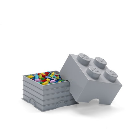 Picture of Lego® Storage Box 4 Medium Stone Grey