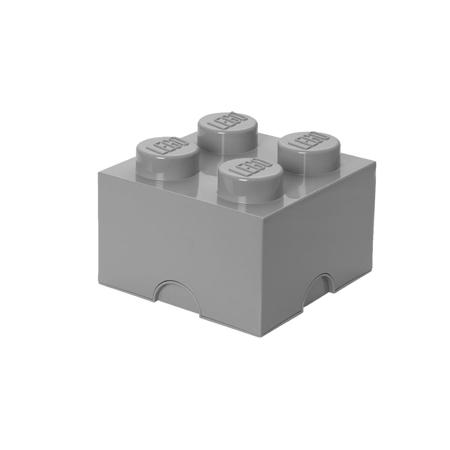 Lego® Storage Box 4 Medium Stone Grey