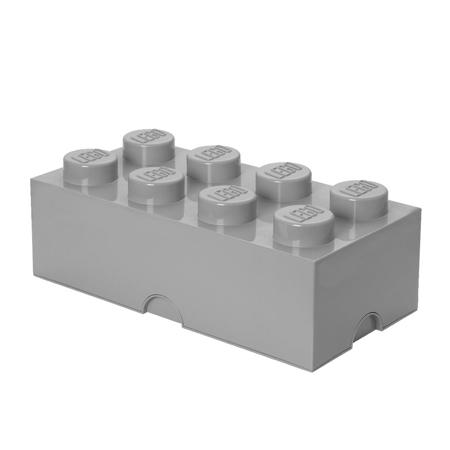 Picture of Lego® Storage Box 8 Medium Stone Grey