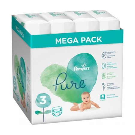 Picture of Pampers® Diapers Pure Protection Megabox Size 3 (6-10 kg) 4x31 pcs.