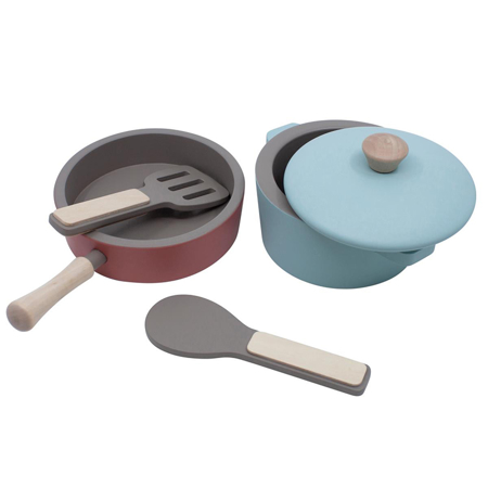 Picture of Sebra® Wooden kitchen tools set Warm Grey