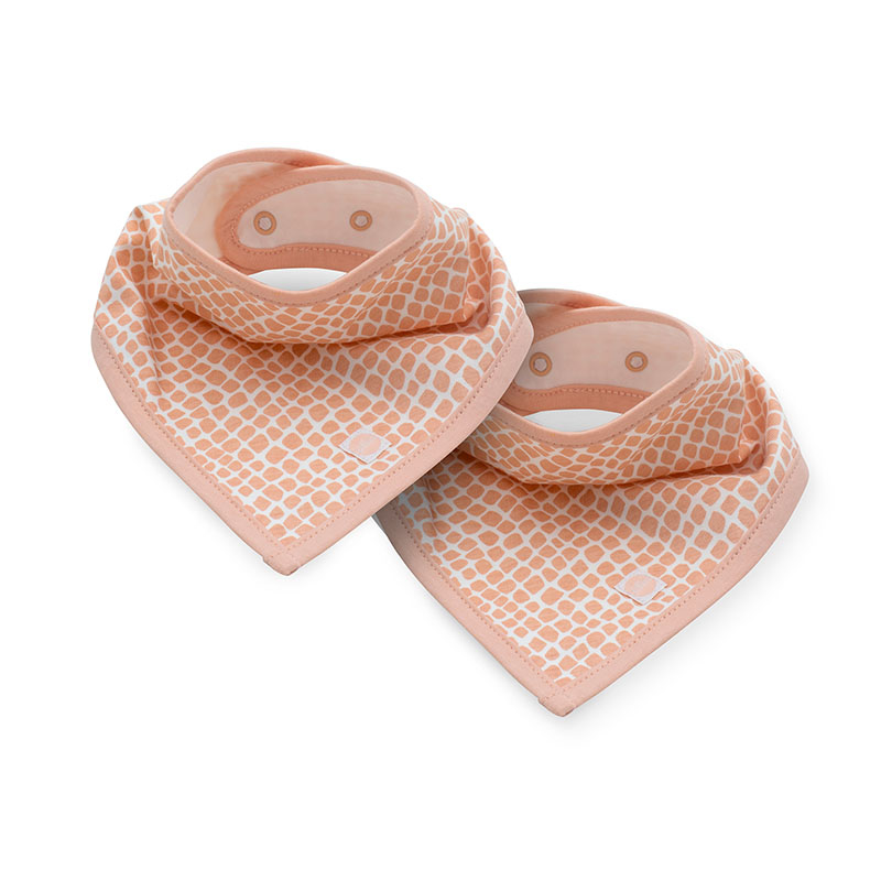 Picture of Jollein® Slab bandana Snake Pale Pink 2 pcs.