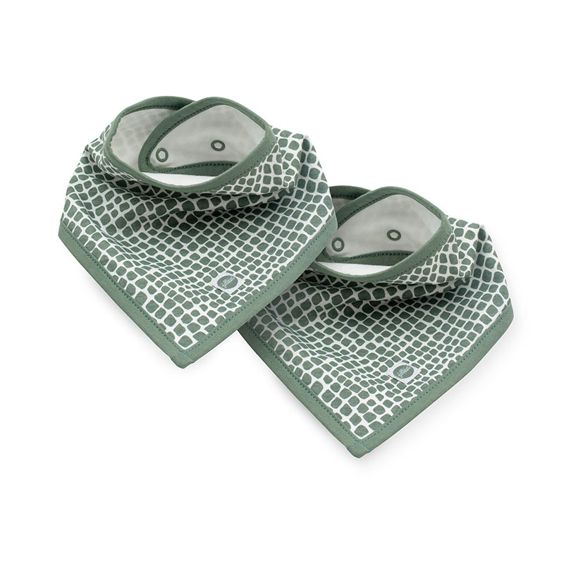 Picture of Jollein® Slab bandana Snake Ash Green 2 pcs.