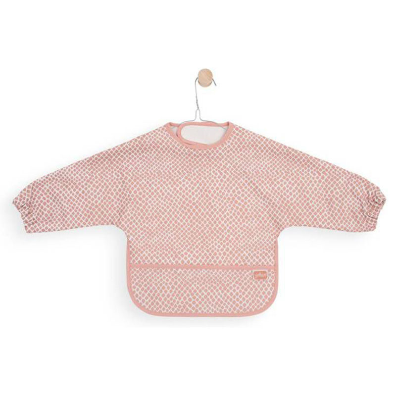 Picture of Jollein® Bib waterproof with sleeve Snake Pale Pink