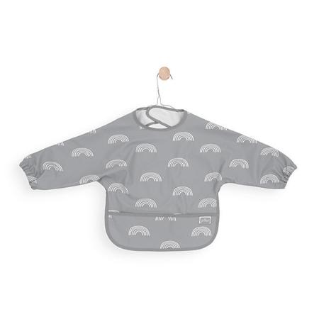 Picture of Jollein® Bib waterproof with sleeve Rainbow Grey