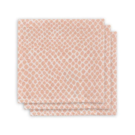 Picture of Jollein® Mouth cloth hydrophilic Snake pale pink (3pack)