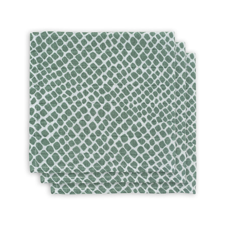 Picture of Jollein® Mouth cloth hydrophilic Snake Ash Green 3pack 31x31