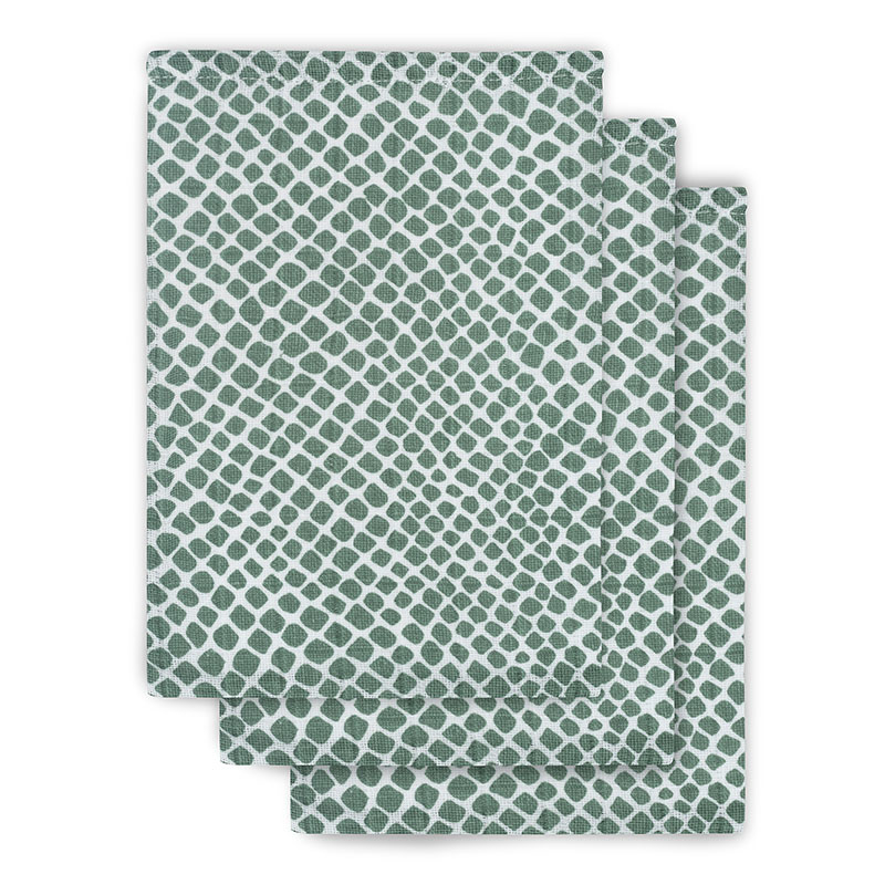 Picture of Jollein® Hydrophilic washcloth hydrophilic Snake Ash Green (3pack)