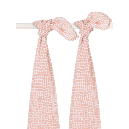 Jollein® Muslin multi-cloth large 115x115cm Snake pale pink (2pack)