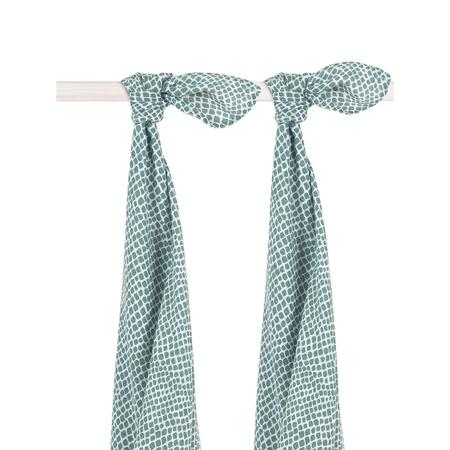 Jollein® Muslin multi-cloth large Snake Ash Green 2pack 115x115