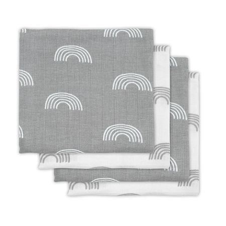 Picture of Jollein® Muslin multi cloth small 70x70cm Rainbow Grey (3pack)