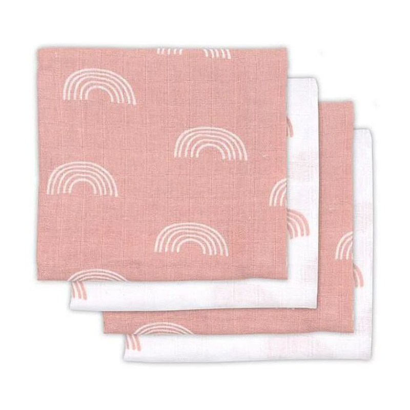 Picture of Jollein® Muslin multi cloth small 70x70cm Rainbow Pink (3pack)