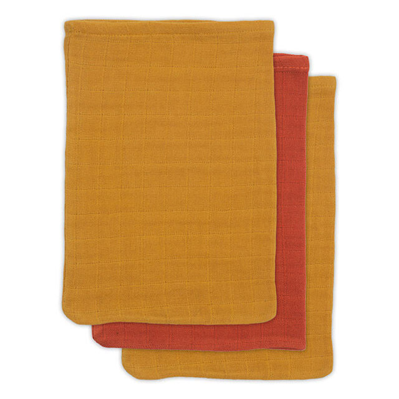 Picture of Jollein® Bamboo washcloth Mustard Rust (3pack)