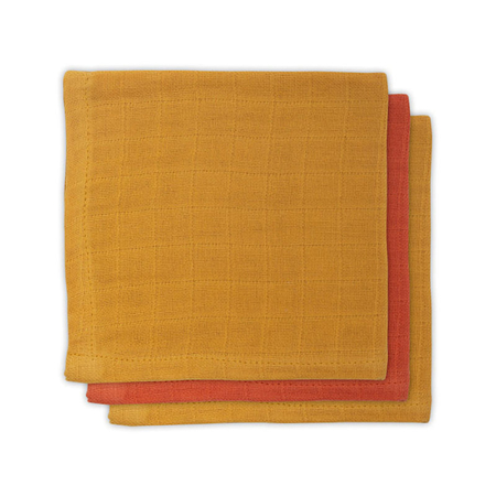 Picture of Jollein® Bamboo mouth cloth Mustard Rust (3pack)