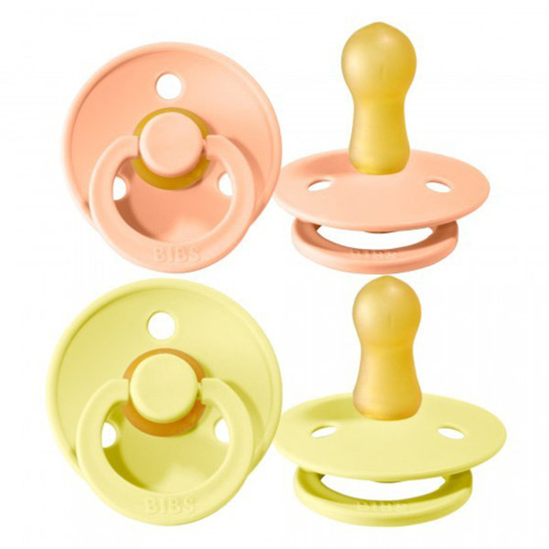Picture of Bibs® Natural Rubber Baby Pacifier Sunshine & Peach Sunset 2 (6-18m)