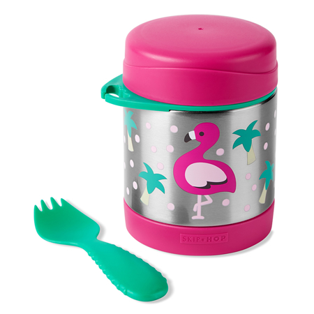 Skip Hop® Insulated Little Kid Food Jar Flamingo
