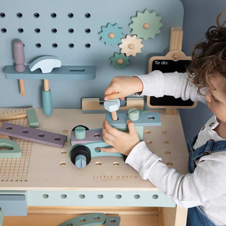 Picture of Little Dutch® Children's workbench with tool belt