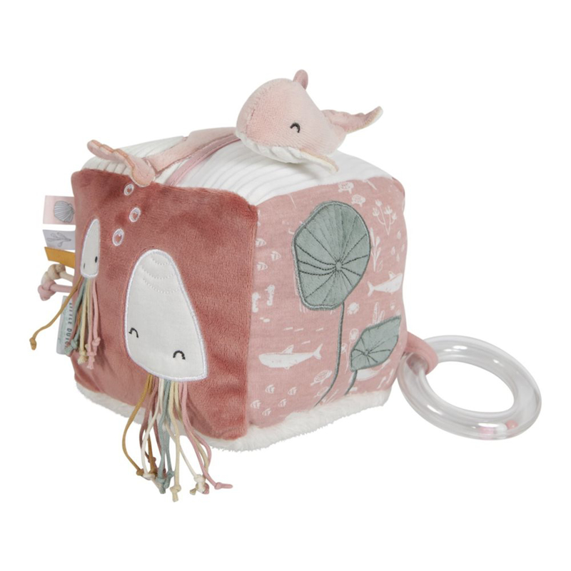Picture of Little Dutch® Soft activity cube Ocean Pink