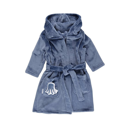 Picture of Little Dutch® Baby bathrobe Ocean Blue