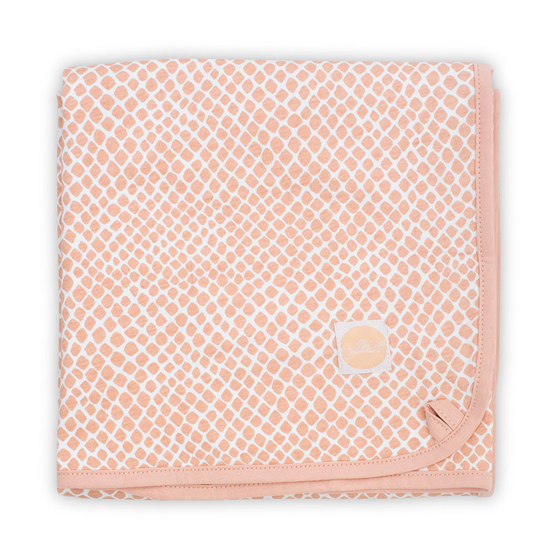 Picture of Jollein® Blanket 75x100cm Snake Pale Pink