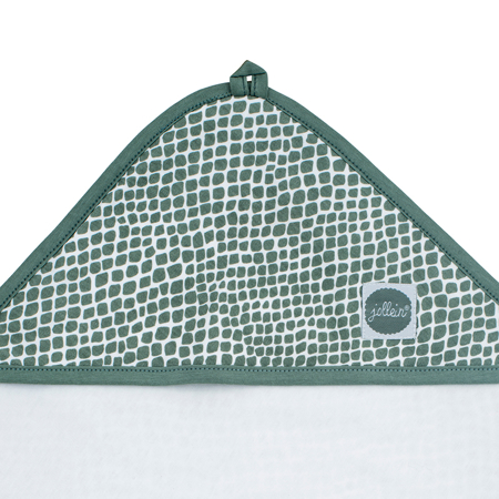 Picture of Jollein® Terrycloth Bathcape 75x75cm Snake Ash Green