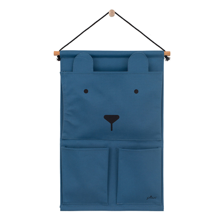 Picture of Jollein® Wall organizer Canvas Animal club Steel Blue