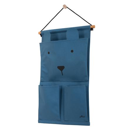 Jollein® Wall organizer Canvas Animal club Steel Blue