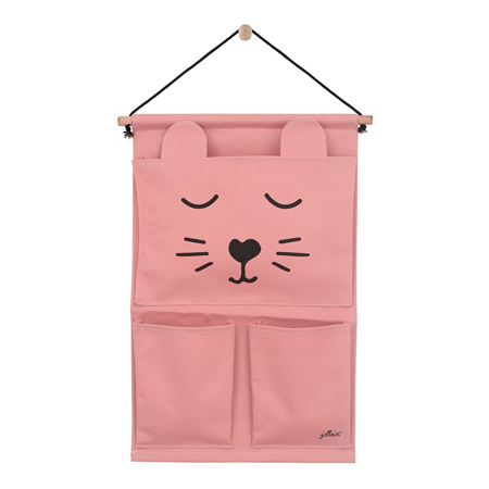 Picture of Jollein® Wall organizer Canvas Animal club Rouge