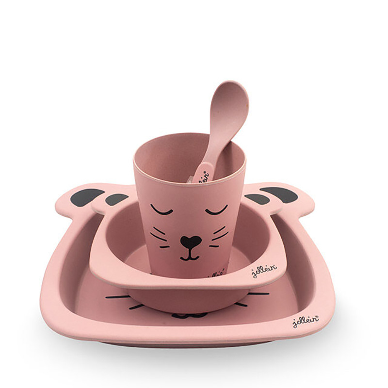 Picture of Jollein® Dinner set bamboo Animal Club Rouge