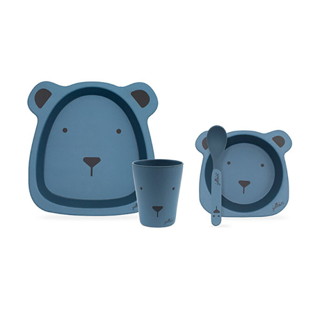 Picture of Jollein® Dinner set bamboo Animal Club Steel Blue