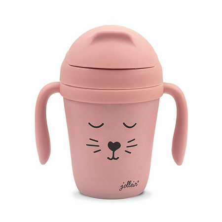 Picture of Jollein® Drinking cup Bamboo Animal Club Rouge