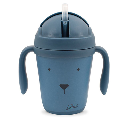 Picture of Jollein® Drinking cup Bamboo Animal Club Steel Blue