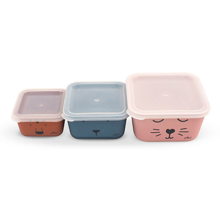Picture of Jollein® Snack box bamboo Animal club 3pcs.