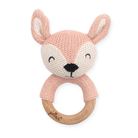 Picture of Jollein® Teether Ø 7cm Deer Pale Pink