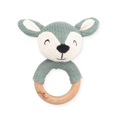 Picture of Jollein® Teether Ø 7cm Deer Ash Green