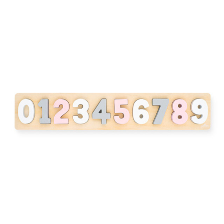Picture of Jollein® Number puzzle wood Pink/White