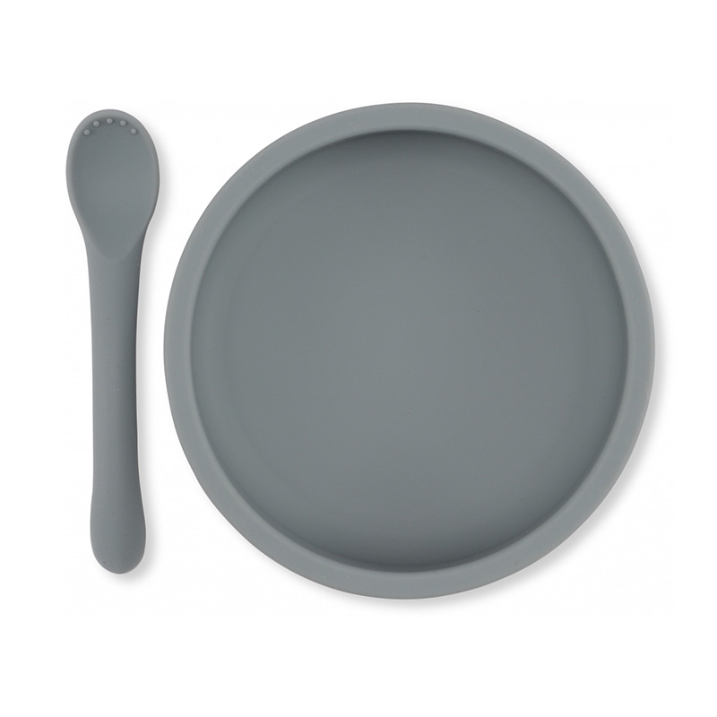 Picture of Konges Sløjd® Bowl & Spoon silicone set Light Blue