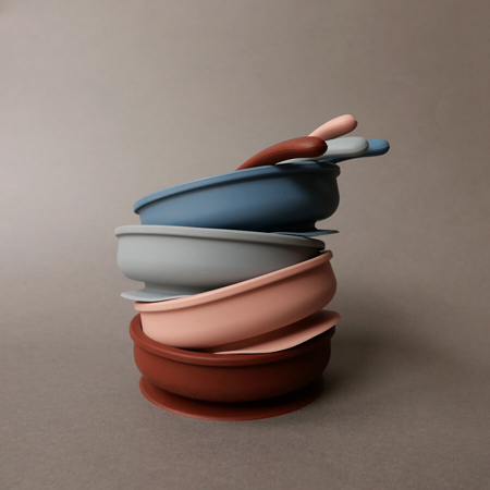 Picture of Konges Sløjd® Bowl & Spoon silicone set Rose